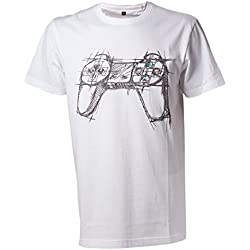 Playstation White Controller, T-Shirt Uomo