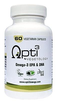 Opti3 Omega-3 EPA & DHA - Vegan Omega-3 Capsules
