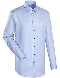 JACQUES BRITT Business Hemd Custom Fit Langarm Bügelleicht Uni / Uniähnlich Businesshemd Under-Button-Down-Kragen Manschette weitenverstellbar