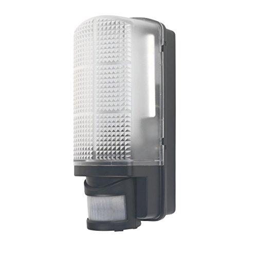 LAP Spritzwand rh60b-led LED Wand Lampe mit PIR schwarz 6W