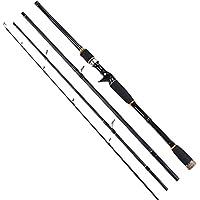 Alftek Canne à pêche en carbone 4 sections pour pêche en casting, pêche en spinning et pêche en mer