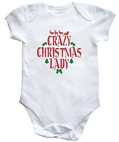 hippowarehouse Crazy Weihnachten Lady Baby Weste Jungen Mädchen Gr. 18-24 Monate, weiß