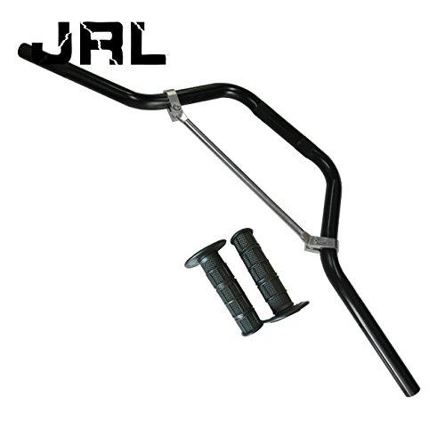 JRL - Manillar de moto con aspecto de titanio y efecto reforzado, para trail y motocross