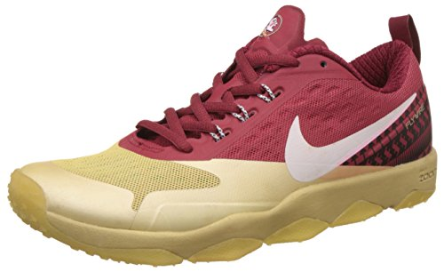 Nike Men's Air Zoom Flyware Maroon and Gold Running Shoes - 8.5 UK/India (43 EU)(9.5 US)(819803-007)