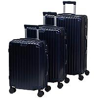 تشاليش حقائب سفر بعجلات للجنسين 3 قطع ، ازرق غامق