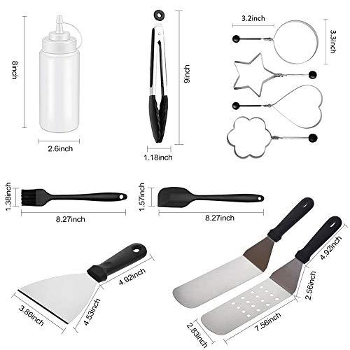 Asdomo Grill-Zubehör, Grill-Werkzeug-Set, Grill-Utensilien, für den Außenbereich, 12 Stück -