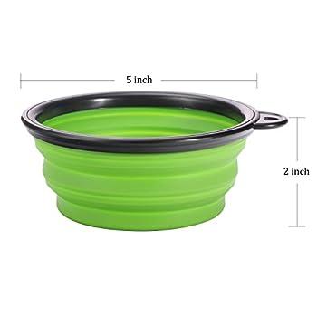 PetBonus Lot de 4 bols en silicone pliable pour animal domestique Gamelle de voyage pour chien et chat, sans BPA et passe au lave-vaisselle 4 couleurs