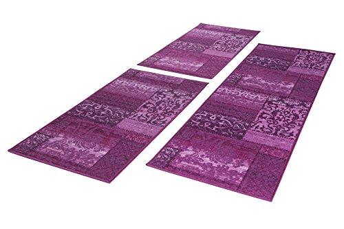 Andiamo Flach/Kurzflor Classique Bettumrandung Orient Muster Vintage Look, Polyamid, 57x110x180, lila