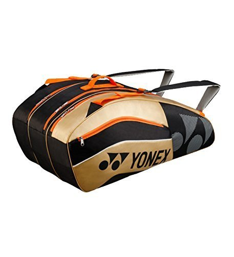 YONEX Racchetta da borsa Active Series 9racchette, Schlägertasche Active Series Racket Bag 9er, nero, Taglia unica