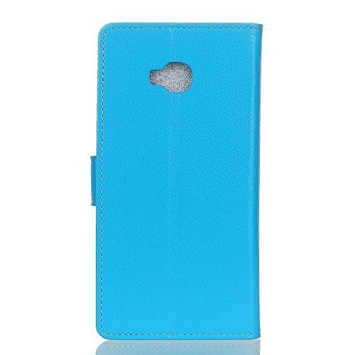 Traditionelle Litschi Textur PU Ledertasche Folio Stand Brieftasche Case Cover mit Kartensteckplätzen für Asus Zenfone ZD552KL ( Color : Blue ) Blue