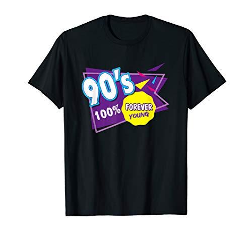 Für Party Jahre 90er Jungs Kostüm - Für Immer Jung 90er Jahre Retro 90th Oldschool Bunt Tee T-Shirt