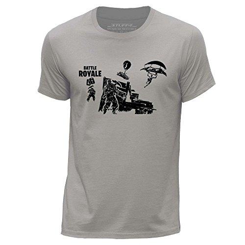 Preisvergleich Produktbild Stuff4® Herren/X Groß (XL)/Hellgrau/Rundhals T-Shirt/FN/Battle Royale
