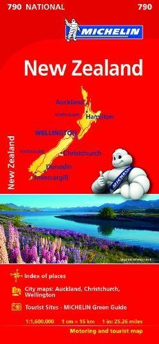 New Zealand - Michelin National Map 790: Map (Michelin National Maps)