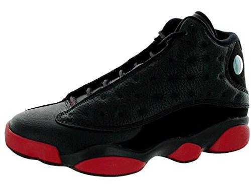 Nike Air Jordan 13 Retro, Chaussures de Sport Homme, Noir Multicolore - Negro / Rojo / Negro (Black / Gym Red-Black)