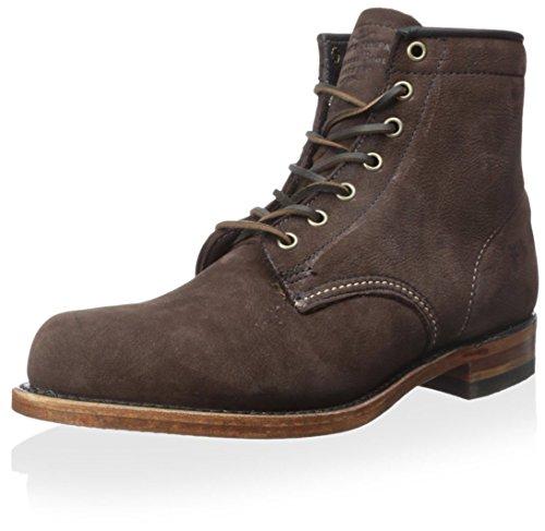 FRYE Mens Arkansas Mid Leather Dark Brown