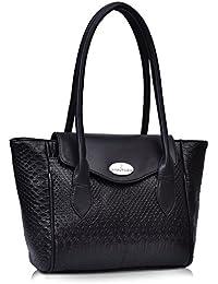 fantosy Black Leather Design women shoulder bag (FNB-758) (Black)