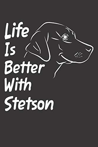 Stetson: Blank Dotted Male Dog Name Personalized & Customized Labrador Notebook Journal for Women, Men & Kids. Chocolate, Yellow & ... & Christmas Gift for Dog Lover & Owner. ()