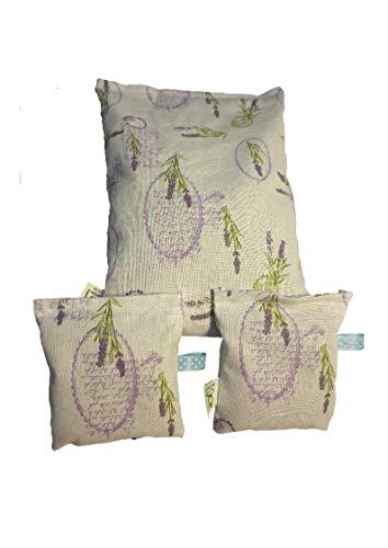 Vitasimplex 3 Lavendelkissen ✔ 25x17cm mit ✔ und 2X 12x10 cm mit je ✔ und Schlaufe✔,ges 180g ✔ Besten Französischen Lavendel aus der Provence✔