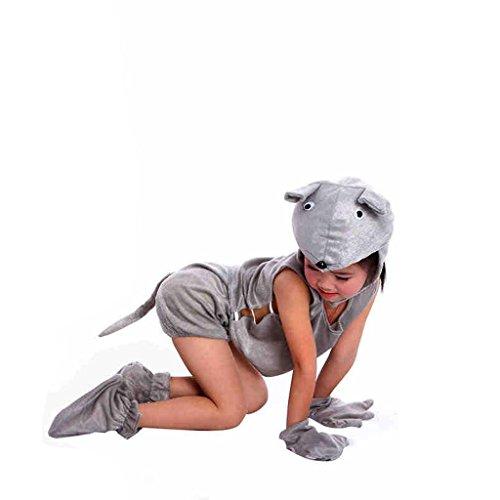 Wgwioo Kindergarten Kinder Karikatur Tier Kostüme Mäuse Sammlung Kind Unisex Kostüm Schule Spielen Party Bekleidung Tanz Outfit 1# 130Cm (Irische Tanz Kostüm Für Erwachsene)