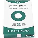 Brause Exacom Cards A5 Lined White - Tarjetas de saludo