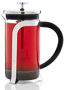 GROSCHE Oxford French Press Coffee and tea maker, 1.0l 34 fl. oz 8 cup (3 coffee mugs). All stainless steel filter (no plastic parts in filter press)