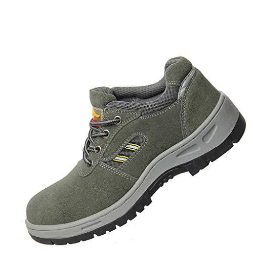 Ingenieurstiefel Sicherheitsschuhe Männer Sicherheitsschuhe Stahl Zeh Arbeitsschuhe leichte Anti-Rutsch-breite geeignet für Arbeit Sicherheit Schuhe Trainer Sportbekleidung für Männer ( größe : 38 )