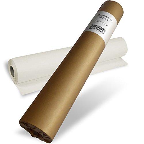 POLYTEKT - Skizzenrolle Skizzenpapier 40g 33cm x 50m