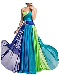Gorgeous Bride Beliebt Lang A-Linie Chiffon Rabatte Mehrfarbig Abendkleid Festkleid Ballkleid