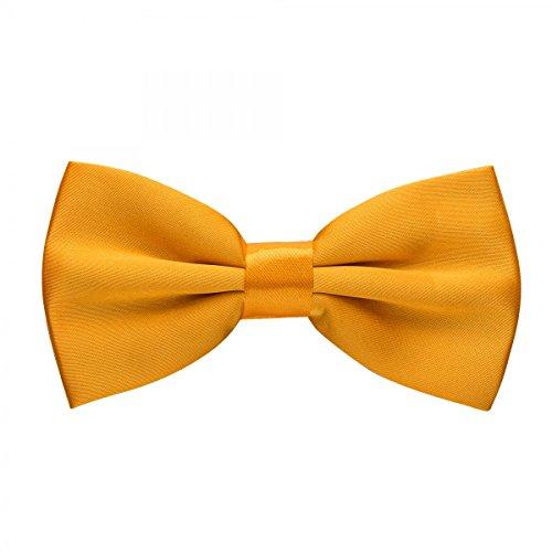 Rusty Bob - Fliege Herren in 35 Farben - Schleife gebunden und verstellbar (12cm x 6,5cm) - für die Hochzeit, die Konfirmation, zum Anzug oder Smoking, Gelb, Einheitsgröße