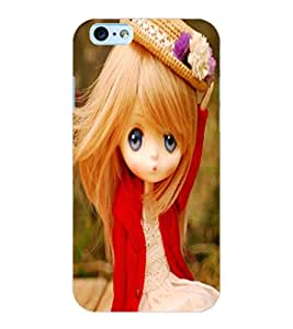 ColourCraft Cute Doll Design Back Case Cover for APPLE IPHONE 6S