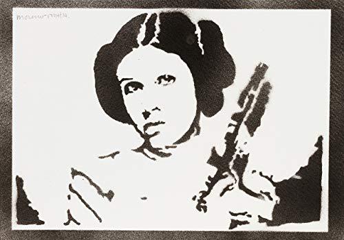 moreno-mata Prinzessin Leia Star Wars Handmade Street Art -