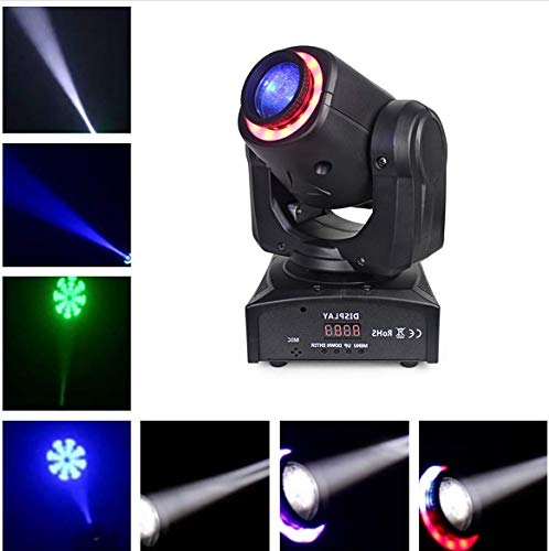 BORYLI 30W LED DMX512 Moving Head DJ-Beleuchtung, Tonregler, automatisch, rot, LED-Lampe, Motiv, Bühnenbeleuchtung für Hotel, Disco, Club, Party