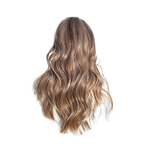 Anney Damen Perücken Long Loose Curly Glueless Lace Front Wigs for Women Heat Resistant Fiber Synthetic Hair