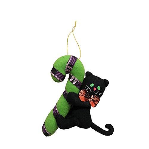 AHBPF Halloween Requisiten Dekorationen Originalität Ghost Festival Puppen Kleine Kleiderbügel Hängt Plüsch Puppen Anhänger, Xd189008 Black Cat