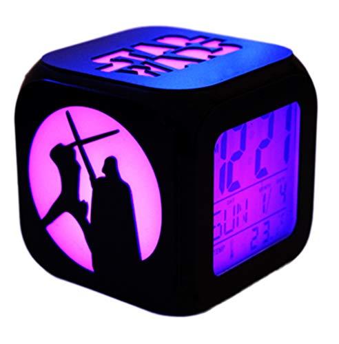 FV-cuerd Star Wars Estéreo 3D Despertador Mute LED Luz Noche Moda Creativa Electrónica Reloj Despertador...