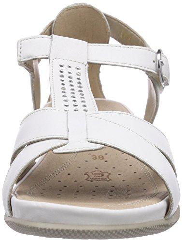 Remonte R7455 64, Sandales femme Blanc (Weiss 80)