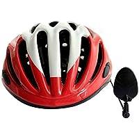 Bicicleta Casco Espejo, fundido Power Ciudad 360grados ajustable MTB Road Bicicleta Ciclismo Espejo Retrovisor para todos los tamaño casco