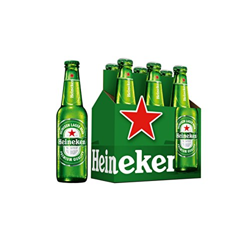 Heineken Beer - Pack of 6 Bottles x 330 ml - Total: 1.98 L