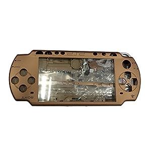 OSTENT Full Housing Faceplate Fall Teile Ersatz kompatibel für Sony PSP 2000 Konsole – Farbe braun