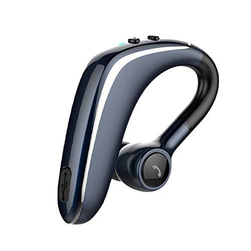 YL-6S 1St Ohrhaken Drahtloser Blueteeth-Kopfhörer Lautstärkeregelung Sport Kopfhörer Über das Ohr Wireless Bluetooth-Headset Lange Bereitschaft Business-Schnellladung 0 Verzögerung Dark Blue -
