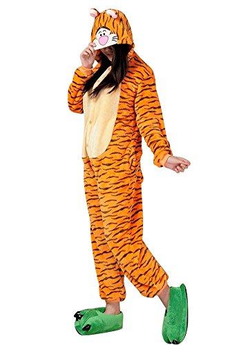 Moollyfox Damen Strampelanzug mehrfarbig Tiger Medium