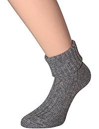 Damen Wollsocken Wollsocken aus WOLLE mit SEIDE für Damen weich und warm 35-38 39-42, 1 oder 4 Paar