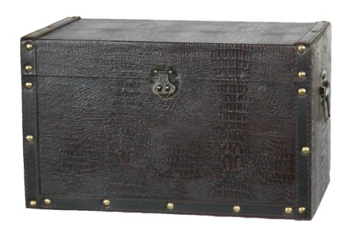 vintiquewise-decorative-leather-trunk-wood-black