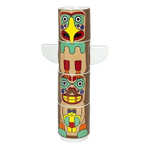 cher im 4er Set - Totem Pole Tasse Becher Hawaii Trinkbecher (Hawaii-totem Pole)