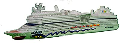Schiffsmodell Aidamar Miniatur Boot Schiff AIDA Mar von muschel-sammler-shop