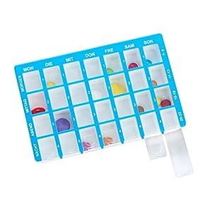 Pflegehome24® Arzneikassette Pillenbox Pillendose, Blau 7-Tage, 1 Woche