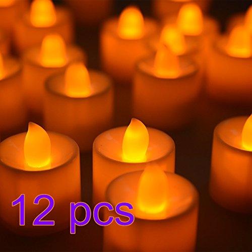 vasyle 12sin llama electrónica Led velas de té luces velas para boda fiesta