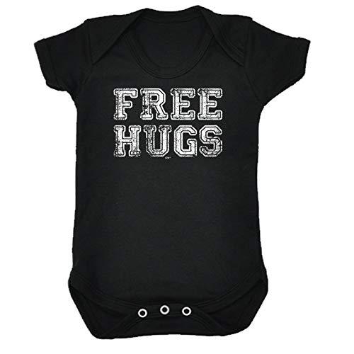123t Lustiger Baby-Strampler - Jumpsuit Strampelanzug, Geschenk Neuheit Babybody Brand 991 Gr. 6-12 Monate, Free Hugs Distressed Baby - Baumwolle Distressed-strampelanzug