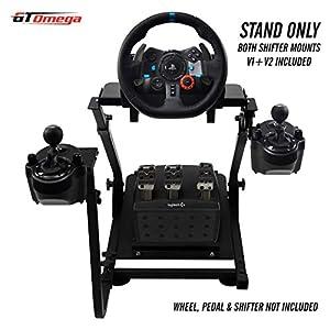 GT Omega Volante soporte para Logitech G29 G920 con montura de cambio de velocidades v1 y v2 Thrustmaster T500 T300 TX y TH8A – PS4 Xbox Fanatec Clubsport – Plegable y inclinación Diseño Ajustable