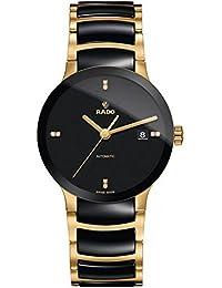 Rado Centrix Black Dial Gold-plated and Black Ceramic Mens Watch R30035712